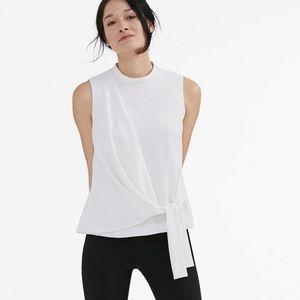 MM LaFleur Lin top in ivory EUC no flaws